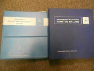 1978 1988 MERCEDES Marketing Bulletins Warranty Policies Service Shop Manual SET