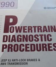 1990 Jeep WRANGLER CHEROKEE COMANCHE Powertrain Diagnostics Procedures Manual