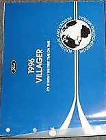 1996 Mercury Villager Van Wiring Electrical Wiring Service Shop Repair Manual