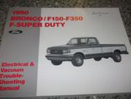 1990 Ford F-150 F-250 F-350 F250 F350 BRONCO WIRING Diagrams Shop Manual EWD x