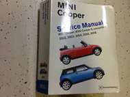 2002 2003 2004 2005 2006 MINI COOPER S CONVERTIBLE Service Repair Shop Manual x