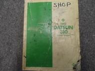 1982 Datsun Nissan 310 Service Repair Shop Manual FACTORY OEM BOOK 82