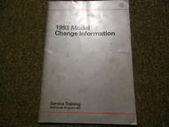 1993 VW Model Change Information Service Training Shop Manual FACTORY OEM 93