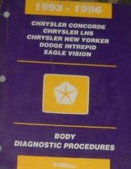 1996 DODGE MOPAR Intrepid BODY DIAGNOSTIC PROCEDURES Service Shop Manual FACTORY