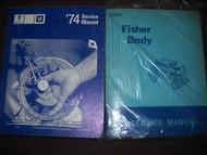 1974 PONTIAC FIREBIRD TRANS AM MODELS GRAN PRIX CATALINA Service Shop Manual SET