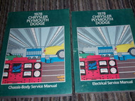 1978 PLYMOUTH FURY ROAD RUNNER SAPPORO VOLARE Service Repair Shop Manual Set OEM