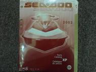 2002 Sea Doo XP Parts Accessories Catalog Manual FACTORY DEALERSHIP OEM Book 02