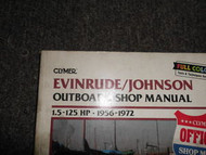 1956-1972 Clymer Evinrude Johnson Outboard Shop Manual 1.5-125 B734 Boat