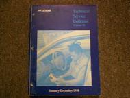 1998 HYUNDAI Technical Service Bulletins Repair Shop Manual FACTORY OEM BOOK 98
