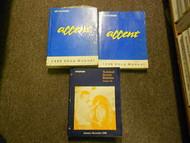 1996 Hyundai Accent Service Repair Shop Manual SET FACTORY OEM BOOK 96 HYUNDAI