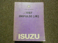 1987 ISUZU IMPULSE JR Service Repair Shop Manual FACTORY OEM BOOK 87