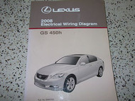 2008 Lexus GS450H GS 450 H Electrical Wiring Diagram Service Shop Repair Manual