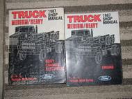 1987 FORD MEDIUM HEAVY Duty Truck Service Shop Manual SET OEM 87 HUGE DIESEL