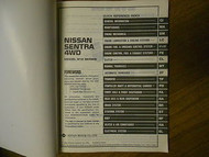 1987 Nissan Sentra 4WD Service Manual Supplement II Factory Repair Shop Book 87