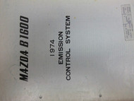 1974 Mazda B1600 B 1600 Emission Control Service Shop Manual FACTORY OEM Truck