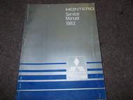 1983 MITSUBISHI MONTERO TRUCK SUV Repair Service Shop Manual OEM FACTORY