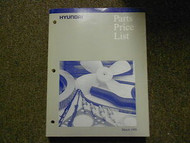 1999 HYUNDAI Parts Price List Manual MARCH Excel Scoupe FACTORY OEM BOOK 99