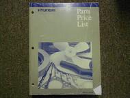 1996 HYUNDAI Parts Price List Manual APRIL Elantra Accent FACTORY OEM BOOK 96