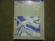 1993 HYUNDAI Parts Price List OCT Elantra Scoupe FACTORY OEM BOOK 93