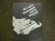 1980 Arctic Cat Lynx Service Repair Shop Manual Illustrated FACTORY OEM BOOK 80