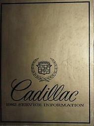 1982 Cadillac ELDORADO SEVILLE FLEETWOOD Shop Repair Service Manual FACTORY