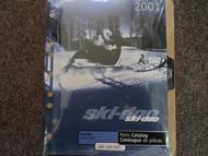 2001 Ski Doo Skandic 500 F 600 F Parts Accessories Catalog Manual OEM Book 01