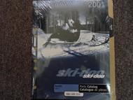 2001 Ski Doo Skandic 440 F Parts Accessories Catalog Manual OEM Book 01