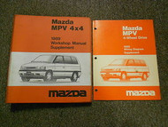 1989 Mazda MPV 4X4 Service Repair Shop Manual SET MAZDA