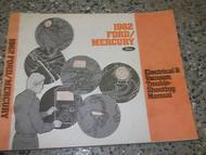 1982 FORD MERCURY Wiring Electrical TROUBLESHOOTING Shop Repair Manual OEM EWD