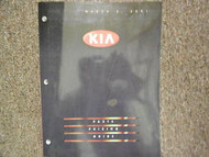 2001 KIA Parts Pricing and Information Service Repair Shop Manual March 01