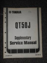 1982 Yamaha QT50J Service Repair Shop Supplementary Manual OEM FACTORY
