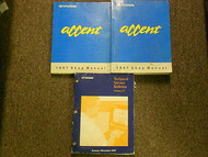 1997 HYUNDAI ACCENT Service Repair Shop Manual SET FACTORY OEM BOOK 97 DEAL
