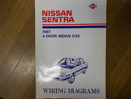 1987 Nissan Sentra Wiring Diagram 4 Door Sedan GXE Service Manual