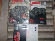 1987 Ford F-150 250 350 Bronco Truck Service Shop Repair Manual Set DEALERSHIP