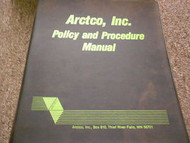 1986 88 89 Arctic Cat Policy and Procedure Manual FACTORY OEM BOOK 86 88 89