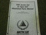 1991 Arctic Cat El Tigre EXT Illustrated Service Parts Catalog Manual OEM