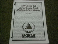 1991 Arctic Cat Jag AFS Long Track Illustrated Service Parts Catalog Manual OEM