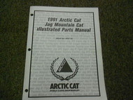 1991 Arctic Cat Jag Mountain Cat Illustrated Service Parts Catalog Manual OEM