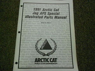 1991 Arctic Cat Jag AFS Special Illustrated Service Parts Catalog Manual OEM
