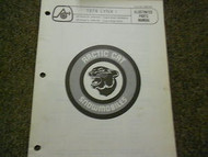1974 Arctic Cat Lynx I Illustrated Service Parts Catalog Manual FACTORY OEM