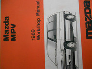 1989 Mazda MPV M P V Service Repair Shop Manual FACTORY OEM RARE BOOK 89