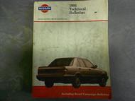 1991 All Models Technical Bulletins Service Repair Shop Manual Factory OEM 91