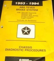 1993 1994 DODGE INTREPID EAGLE VISION ABS TEVES Brake Chassis Diagnostic Manual
