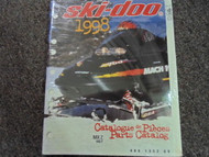 1998 Ski Doo MX Z 400 F Parts Accessories Catalog Service Manual OEM 98