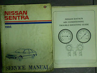1985 Nissan Sentra Service Shop Repair Manual Set Factory OEM 85