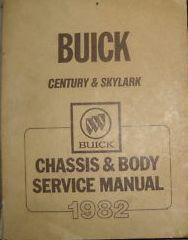 1982 BUICK SKYLARK Shop Repair Service Workshop Manual Chassis & Body OEM GM