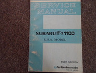 1970 1971 Subaru 1100 Body Service Repair Shop Manual FACTORY OEM BOOK