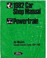 1982 MERCURY GRAND MARQUIS POWERTRAIN Repair Service Shop Manual DEALERSHIP