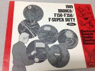 1989 Ford F150 F250 Bronco Truck Super Duty Electrical & Vacuum Wiring Manual x