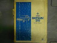 1980 Datsun 210 Service Repair Shop Manual Factory OEM 80